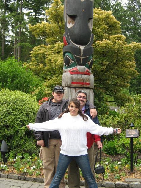 Totem Pole on Victoria Island, BC