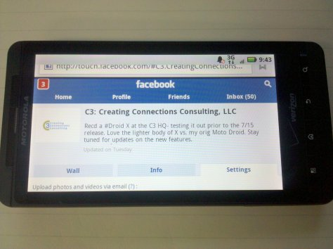 C3: Creating Connections Consulting, LLC Facebook Page -Mobile