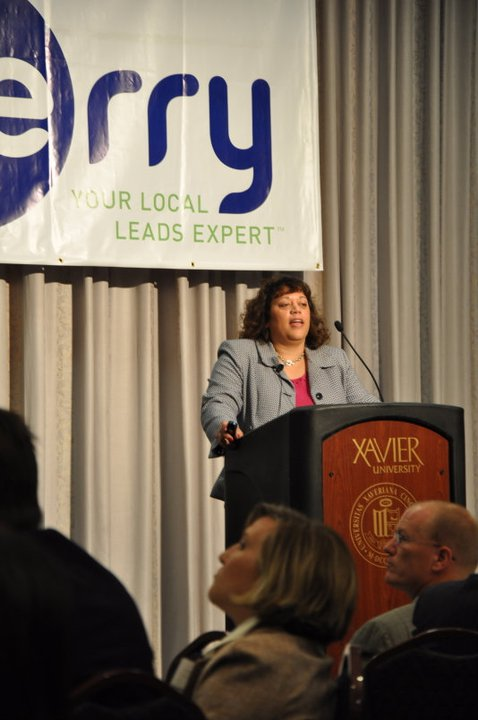 Giving Keynote talk on Importance of Social Media Strategy at Berry Seminar ~photo via Berry